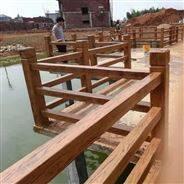 江西仿木护栏 水泥栏杆定制 室外护栏供应