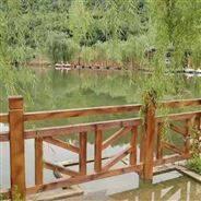 江西仿木栏杆 公园景观护栏定制 河道护栏